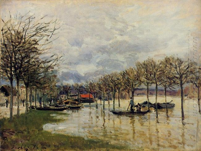the flood on the road to saint germain 1876