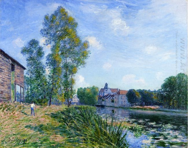 the loing at moret in summer 1891
