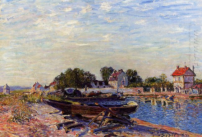 the loing at saint mammes 1884