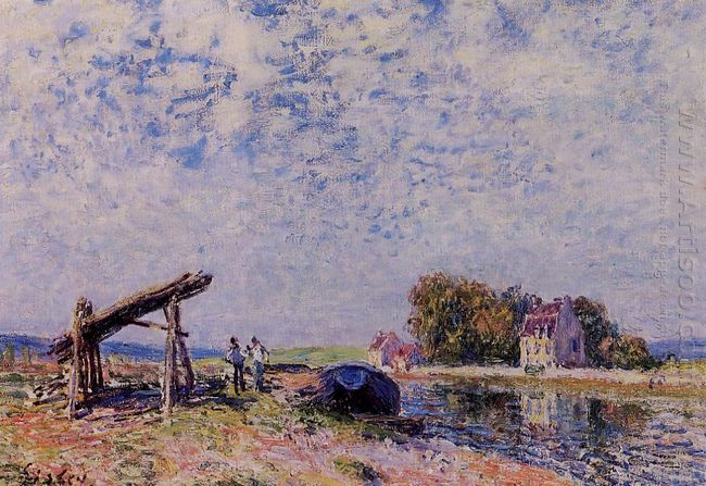 the loing canal at saint mammes 1884