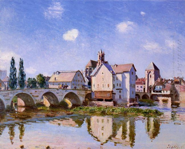 the moret bridge in the sunlight 1892