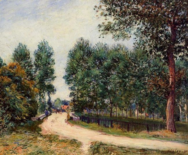 the path from saint mammes morning 1890