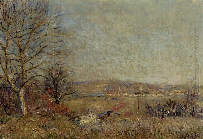 the plain of veneux view of sablons 1884
