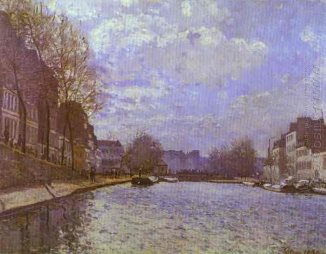 the saint martin canal in paris 1870