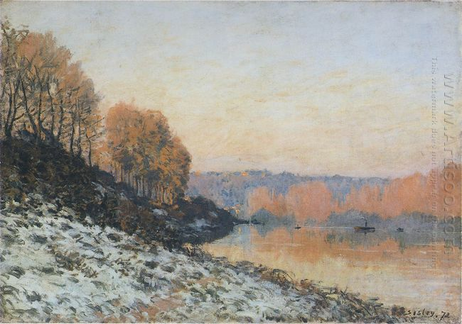 the seine at bougival in winter 1872