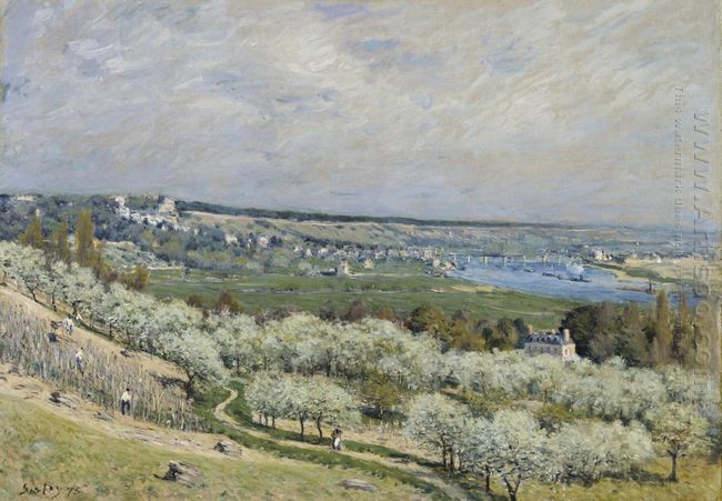 the terrace at saint germain spring 1875