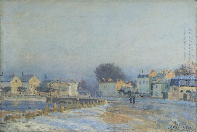 the watering place at marly le roi hoarfrost 1875