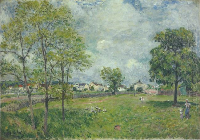 view of the village 1885