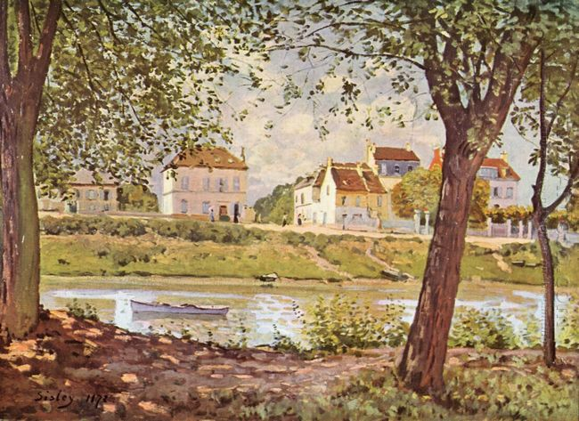 village on the banks of the seine 1872