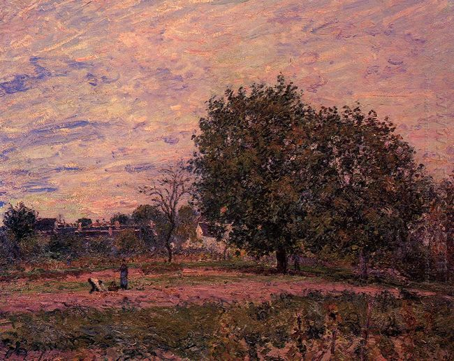 walnut trees sunset early days of october 1882