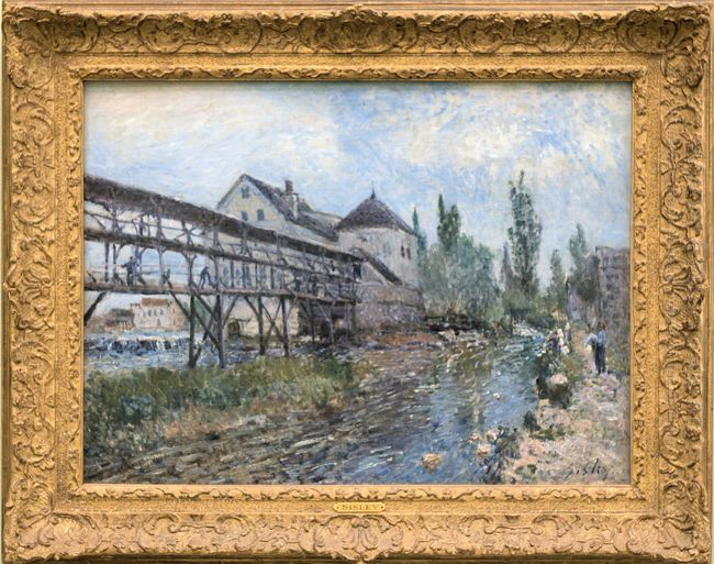 watermill near moret by alfred sisley