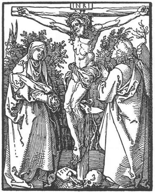 christ on the cross with the virgin and st john 1510