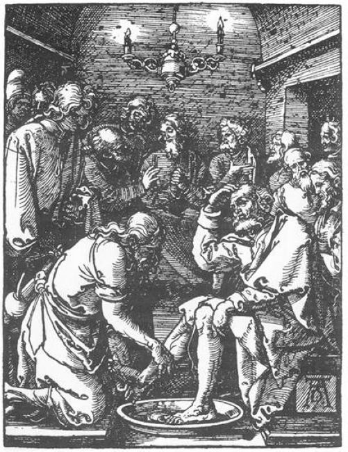 christ washing peter s feet 1511