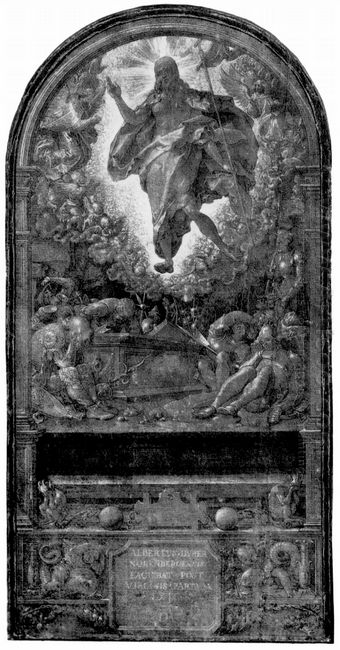 design for the fugger chapel in augsburg resurrection of christ