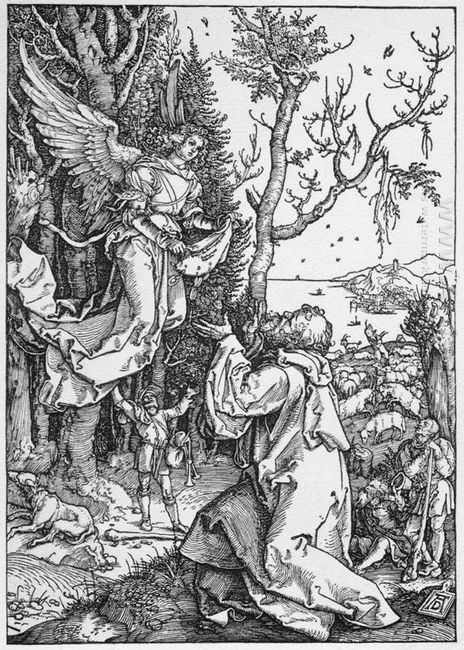 joachim and the angel from the life of the virgin 1511