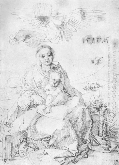 madonna and child on the grassy bank 1