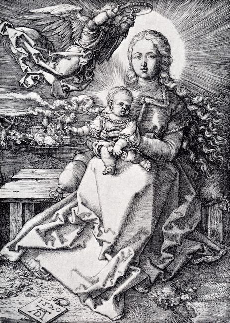 madonna crowned by an angel 1520