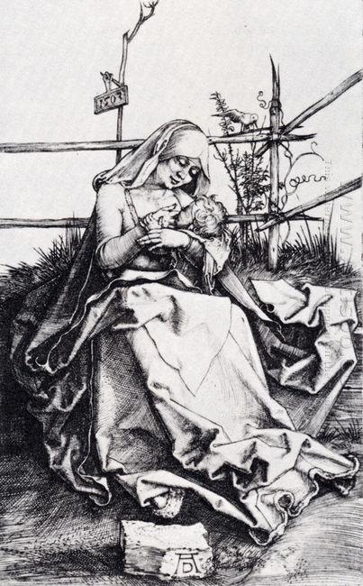 madonna on a grassy bench 1503