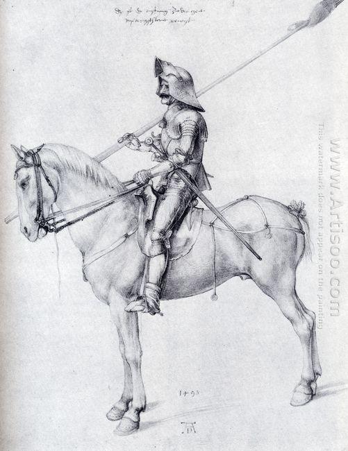 man in armor on horseback 1498