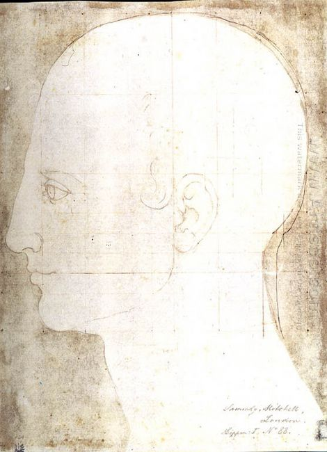 man s head in profile