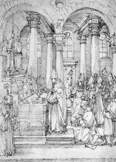 mass of cardinal albrecht of brandenburg in the abbey church hal