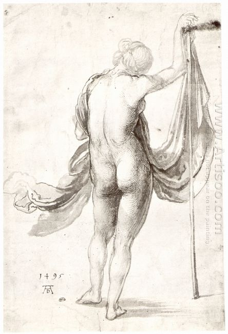 nude study nude female from the back 1495