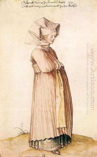 nuremberg woman dressed for church 1500