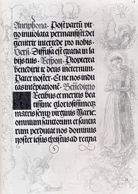 pages of marginal drawings for emperor maximilian s prayer book