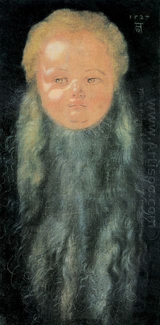 portrait of a boy with a long beard