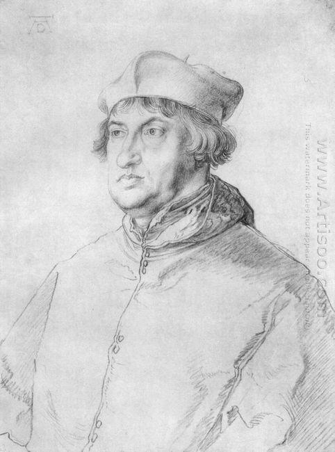 portrait of cardinal albrecht of brandenburg