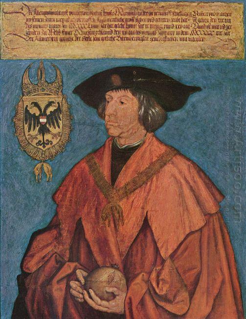 portrait of emperor maximilian i 1519