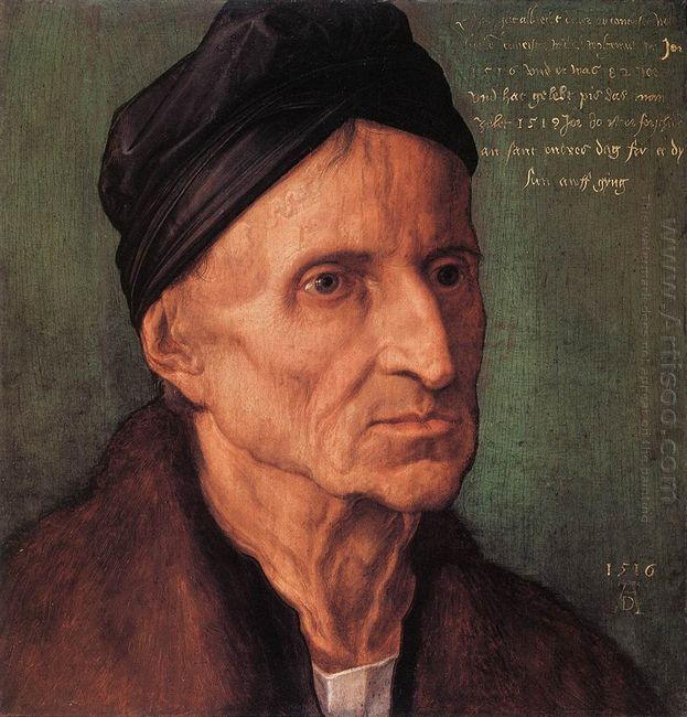 portrait of nuremberger painter michael wolgemut 1516