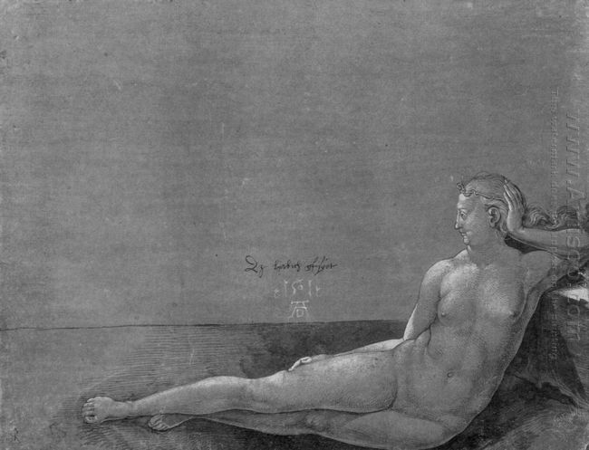 reclining female nude 1501