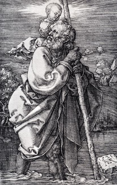st christopher facing to the left 1521
