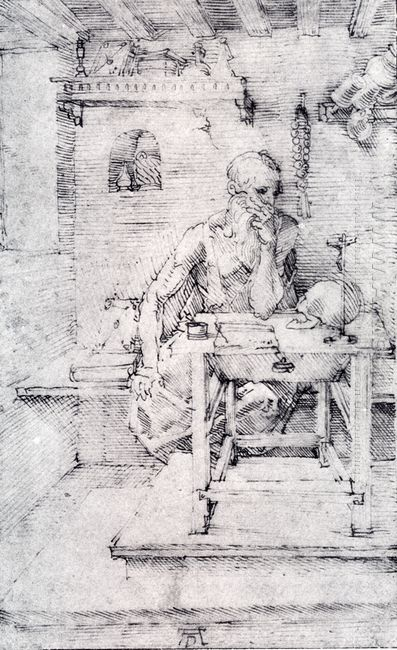 st jerome in his study without cardinal s robes