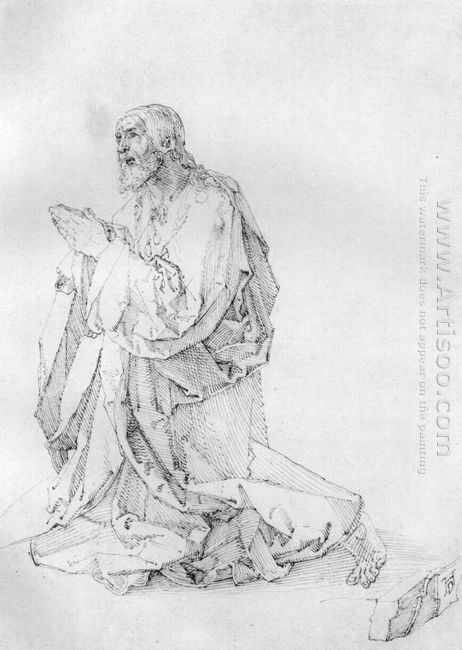 study of a christ on the mount of olives