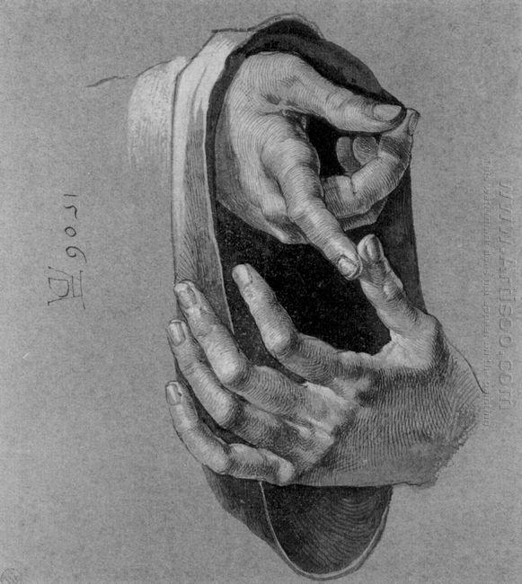study of hands 1506