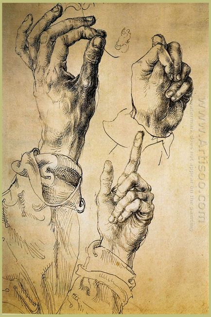 study of three hands