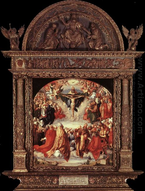 the adoration of the holy trinity landauer altar 1511