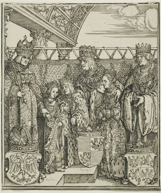 the congress and double betrothal at vienna from the triumphal a