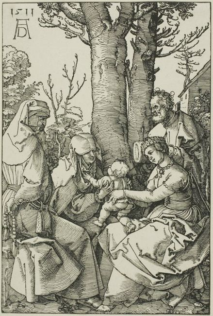 the holy family with joachim and saint ann