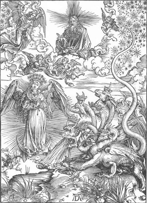 the woman clothed with the sun and the seven headed dragon 1511