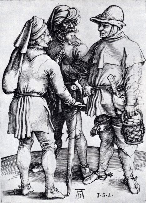 three peasants in conversation 1497