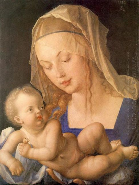 virgin and child holding a half eaten pear 1512