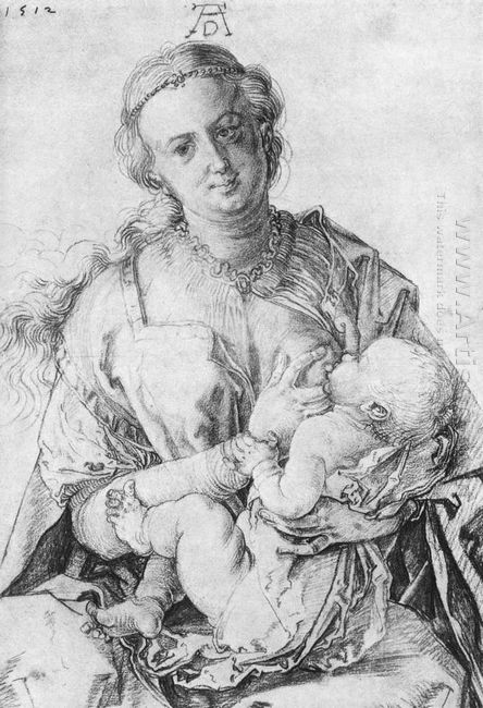 virgin mary suckling the christ child 1512