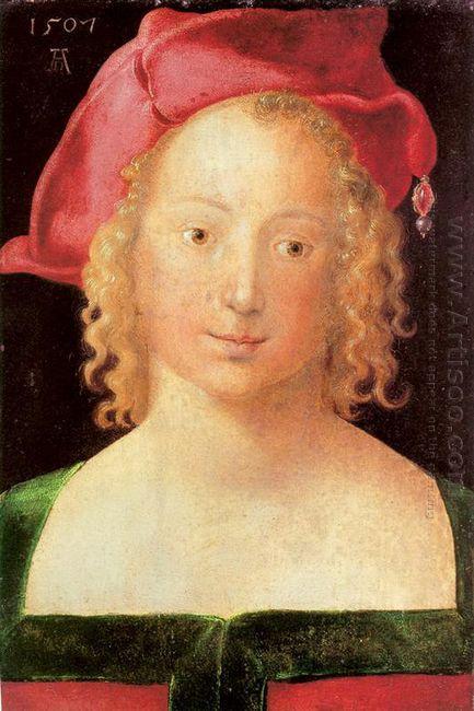 young woman with a red beret 1507