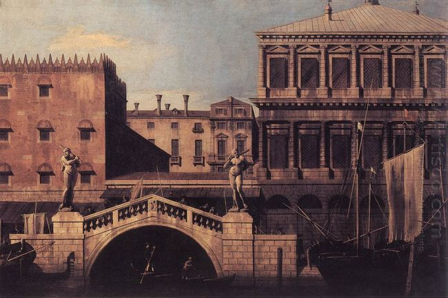 capriccio the ponte della pescaria and buildings on the quay