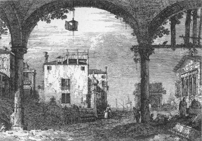 capriccio with a portico