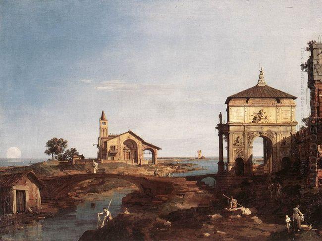 capriccio with venetian motifs