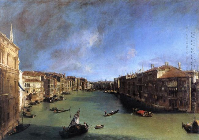 grand canal looking northeast from the palazzo balbi to the rial
